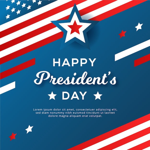 Flat design concept for presidents day Free Vector