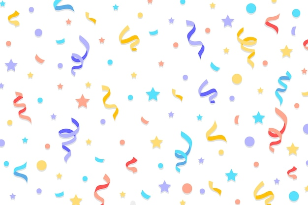 Flat design confetti background Free Vector