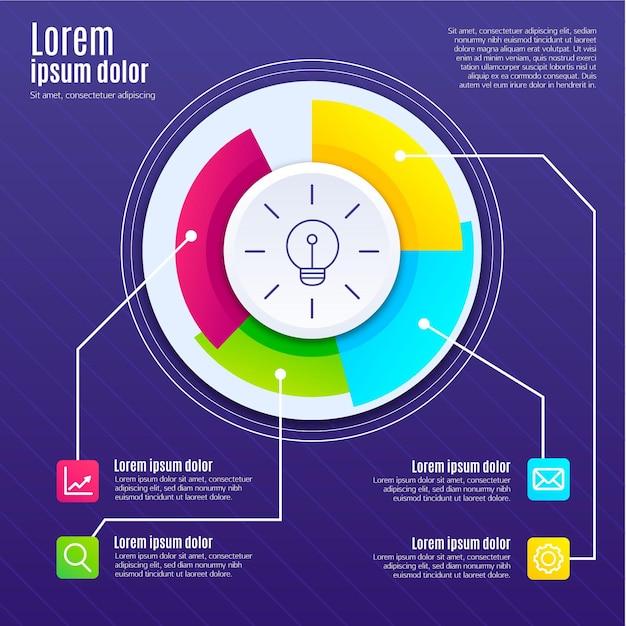 Design piatto di infografica creatività Vettore gratuito