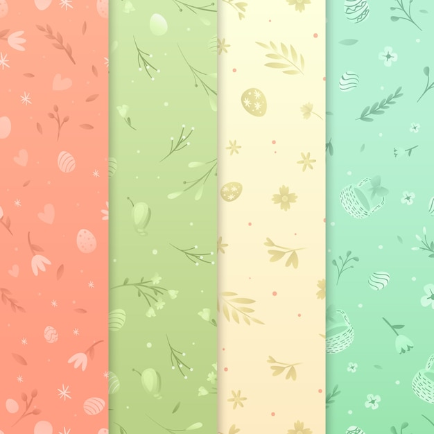 Flat design easter day pattern Free Vector