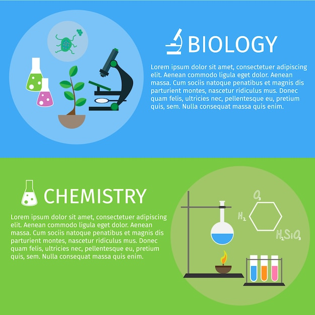 Flat design education and learning horizontal banner Premium Vector
