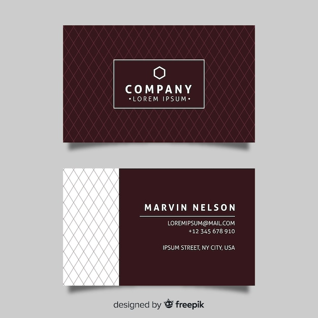 Flat design elegant business card Free Vector