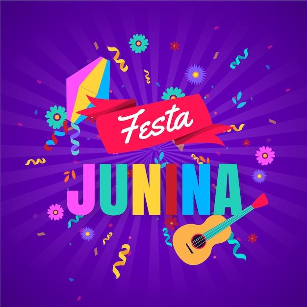Flat design festa junina concept Free Vector