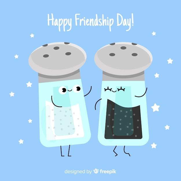 Flat design friendship day background Free Vector