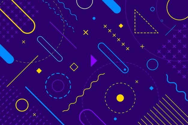 Flat design geometric shapes background Free Vector