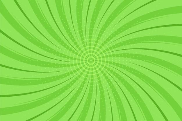 Sfondo di fumetti verde design piatto Vettore gratuito