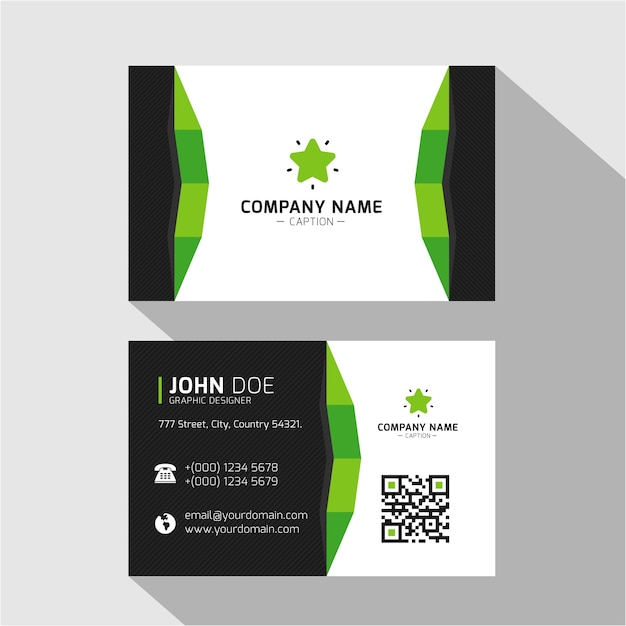 Flat design green minimal catchy business card vector premium download flat design green minimal catchy business card premium vector colourmoves