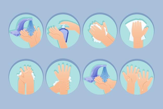 フラットデザインの手指消毒剤 無料ベクター
