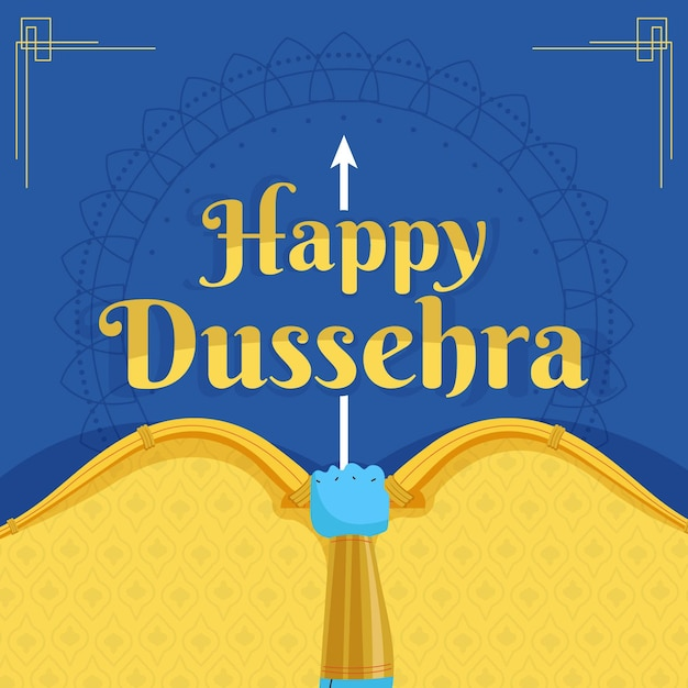Flat design happy dussehra background Premium Vector