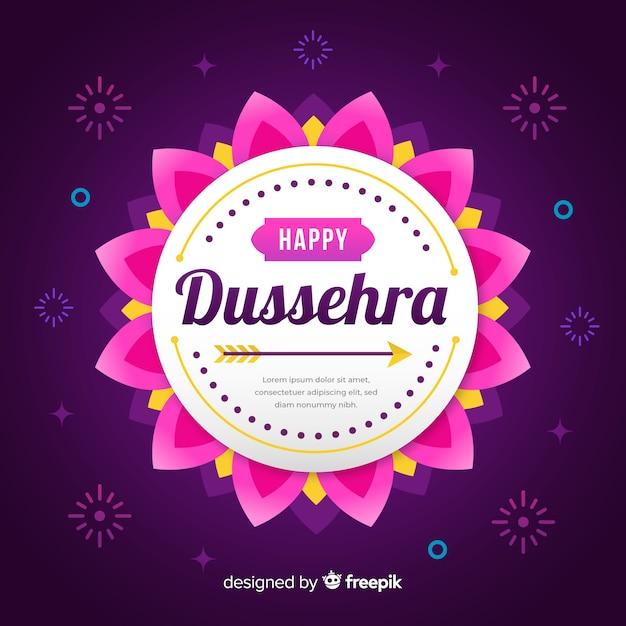 Flat design happy dussehra concept Free Vector