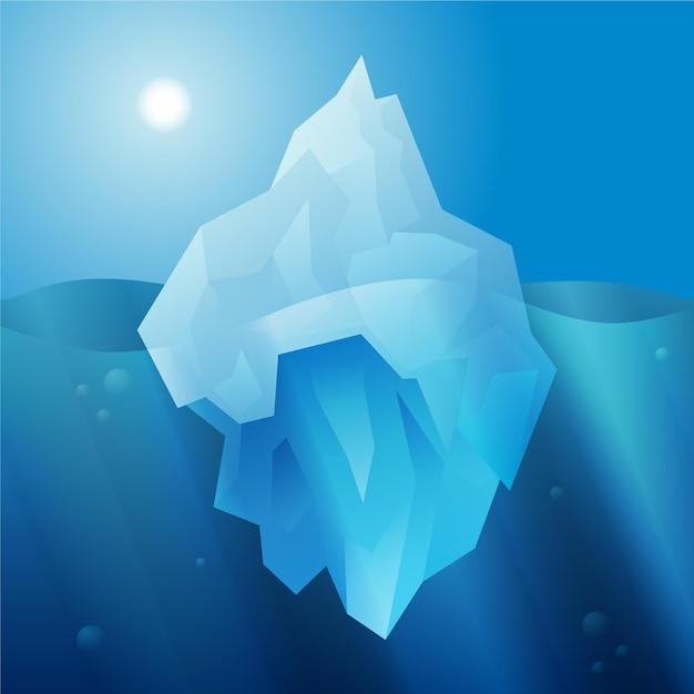 Concetto di design piatto iceberg Vettore gratuito