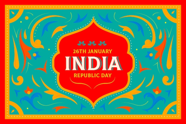 Flat design indian republic day concept Free Vector