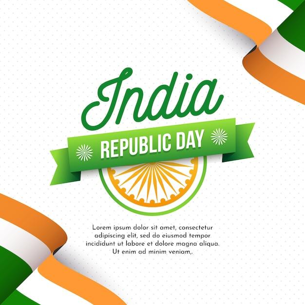 Flat design indian republic day wallpaper Free Vector