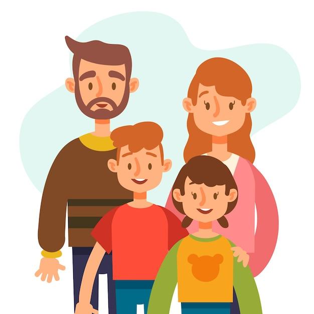 Design piatto giornata internazionale del concetto di famiglie Vettore gratuito