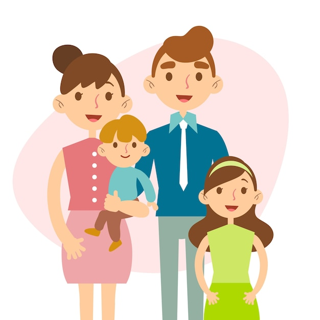 Flat design international day of families concept Free Vector