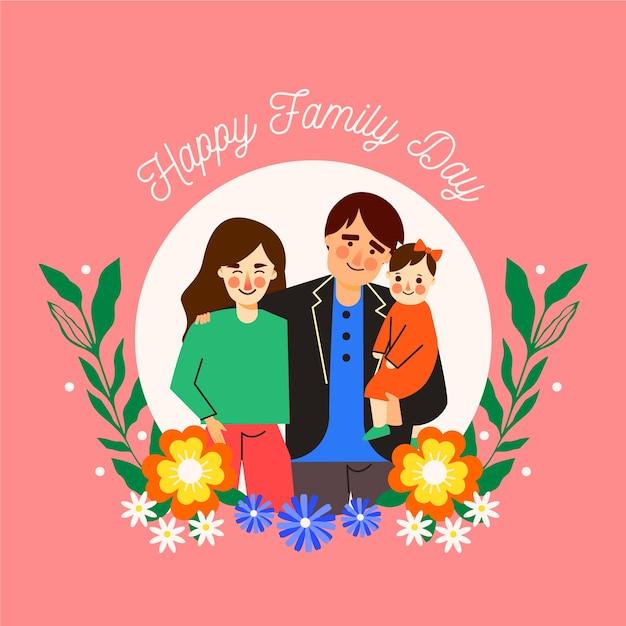 Giornata internazionale della famiglia design piatto Vettore gratuito