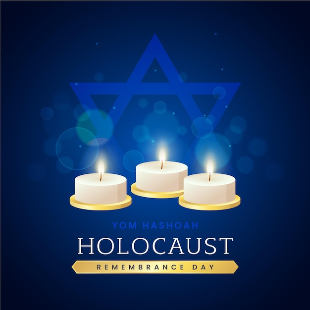 Giornata internazionale della memoria dell'olocausto di design piatto Vettore gratuito