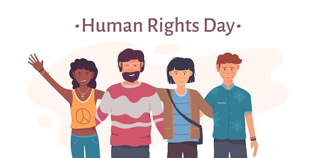 Giornata internazionale dei diritti umani di design piatto Vettore gratuito
