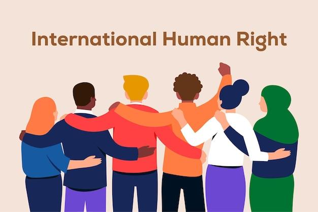 フラットデザイン国際人権デー Premiumベクター