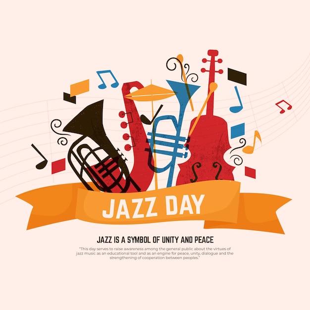 Международный день джаза Premium векторы