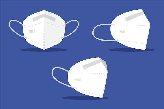 フラットデザインkn95フェイスマスク 無料ベクター