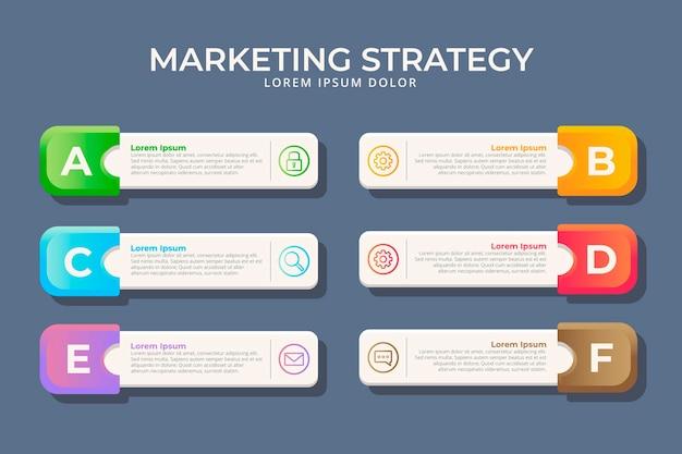 Infografica marketing design piatto Vettore gratuito