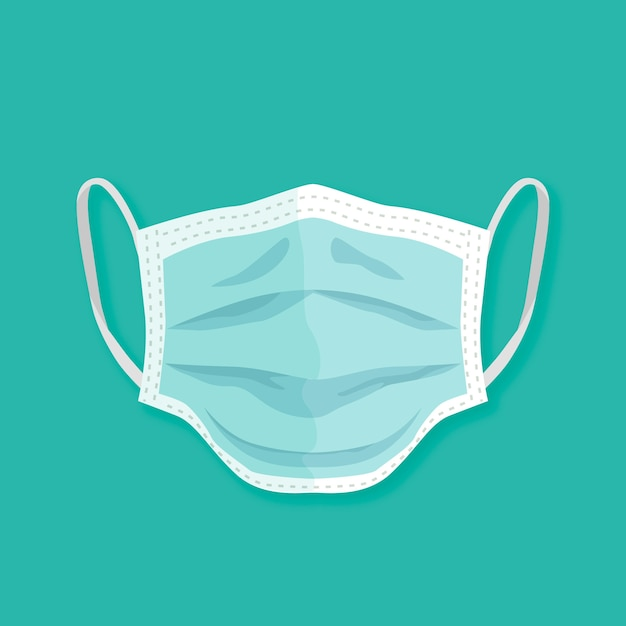 Flat design medical mask style Free Vector