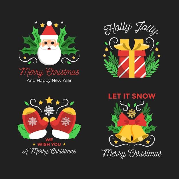 Плоский дизайн с рождеством Бесплатные векторы