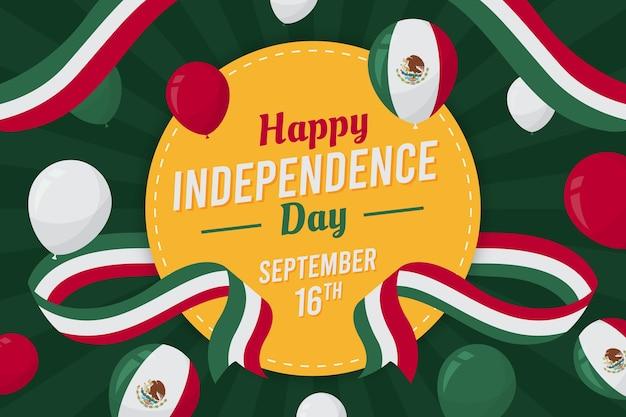Плоский дизайн мексиканский день независимости концепция Premium векторы