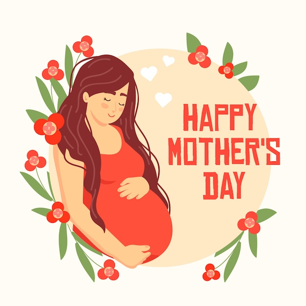 Flat design mother's day event Free Vector