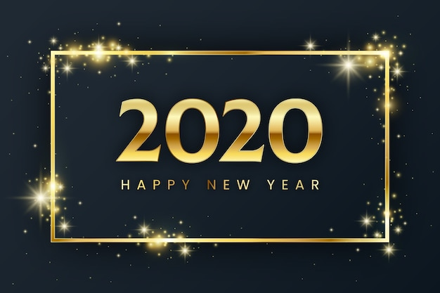 Flat design new year background Free Vector
