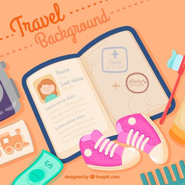Flat design passport background