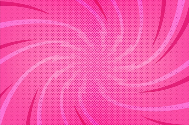 평면 디자인 핑크 만화 스타일 배경 프리미엄 벡터