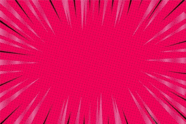 フラットなデザインのピンクの漫画の背景 Premiumベクター