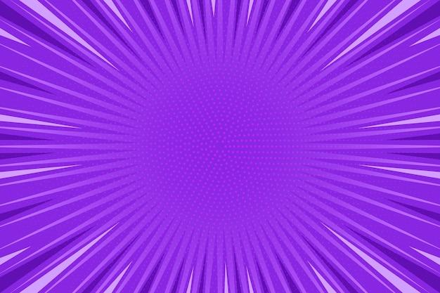 Плоский дизайн фиолетовый фон в стиле комиксов Бесплатные векторы