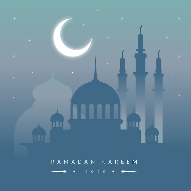 Flat design ramadan celebration Free Vector