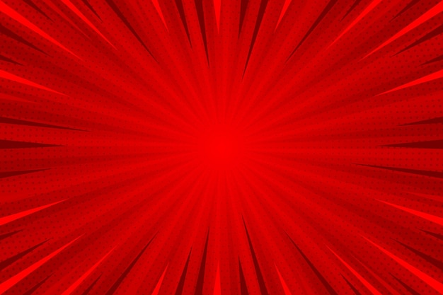 Flat design red comic style background Free Vector