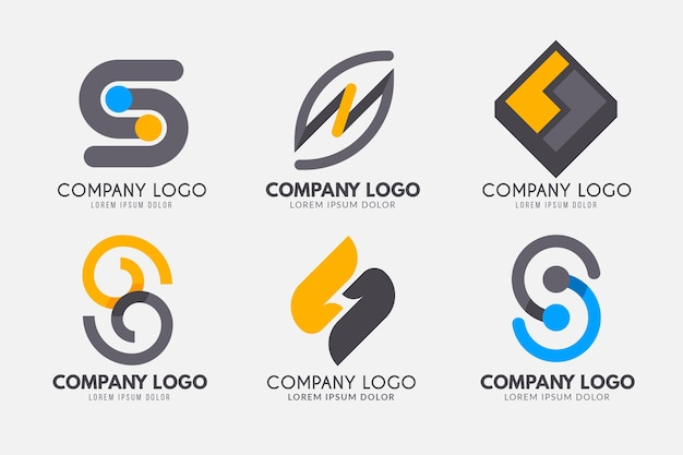 Flat design s logo template collection Free Vector