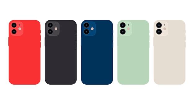 평면 디자인 스마트 폰 공식 색상 무료 벡터