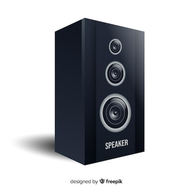 Flat design speaker for music Free Vector