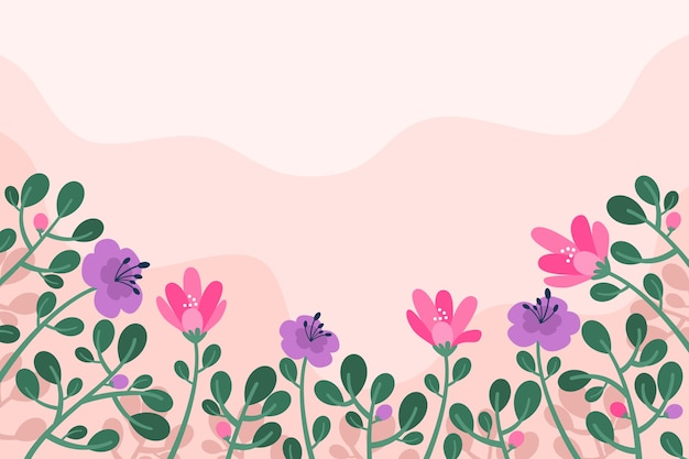 Flat design spring background Free Vector