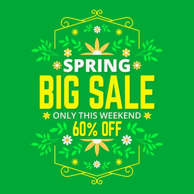 Flat design spring sale theme Free Vector