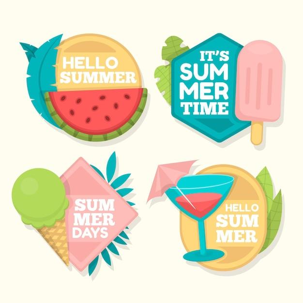 Flat Design Summer Badges Collection