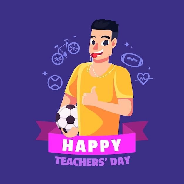 Concetto di giorno degli insegnanti di design piatto Vettore gratuito