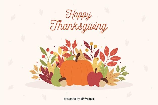 Flat design thanksgiving background Free Vector