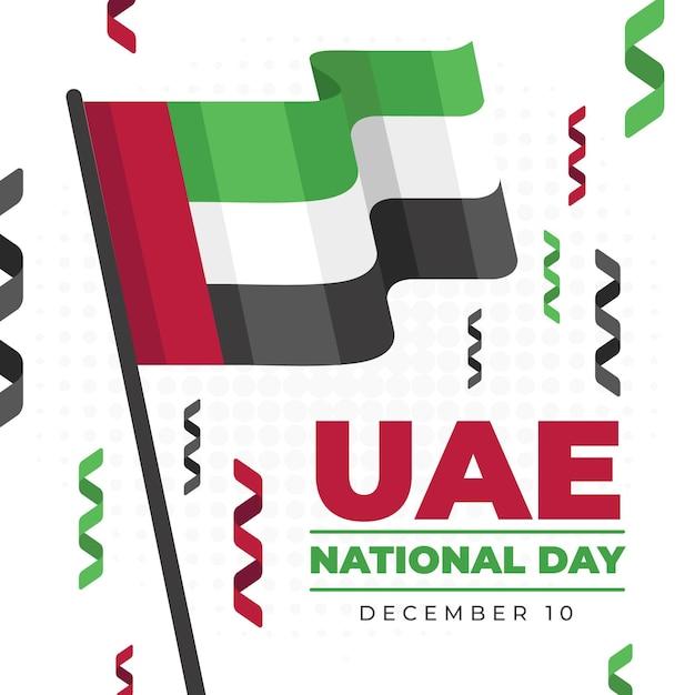 Плоский дизайн национальный день объединенных арабских эмиратов Premium векторы