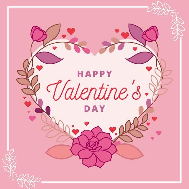 Flat design valentines day background Free Vector