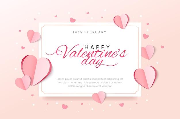 Плоский дизайн фона дня святого валентина Бесплатные векторы