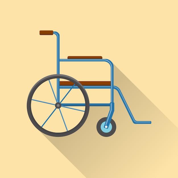 Flat design wheelchair icon Premium Vector