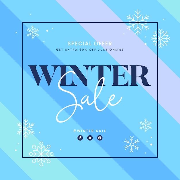 Vendita invernale di design piatto Vettore gratuito